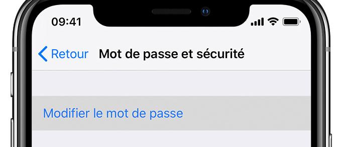 Comment modifier son mot de passe associé à son compte Apple?