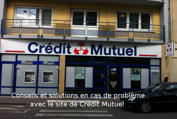 Site web crédit mutuel en panne