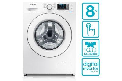 Samsung Lave-linge Eco Bubble & moteur Digital Inverter, 8kg – WF80F5E3U4W