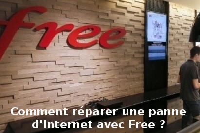 résoudre une panne d'internet avec Free