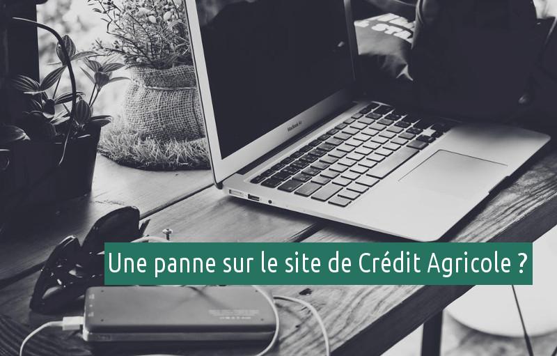 problème site web crédit agricole