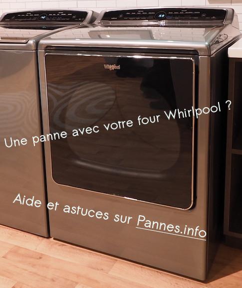solutions en cas de panne d'un four Whirlpool