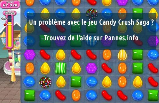 aide pour les bugs sur Candy Crush