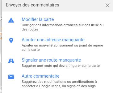 signaler problème google maps