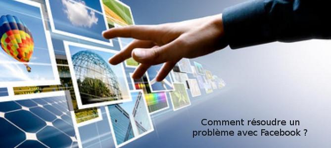 résolution problèmes compte Facebook
