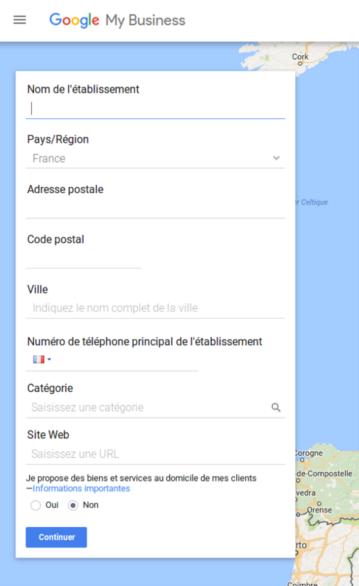 google business inscription