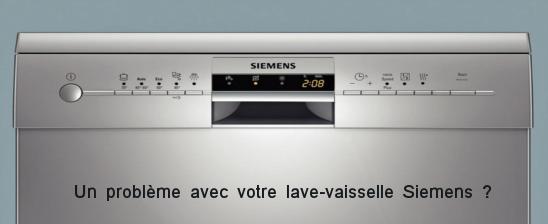 Aide dépannage lave vaisselle Siemens