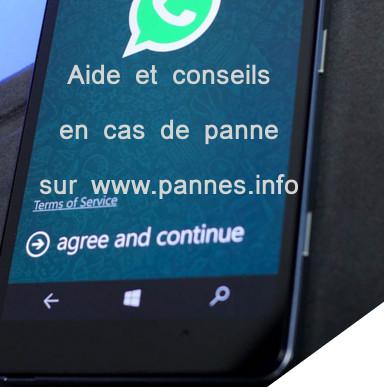 Whatsapp qui ne marche pas