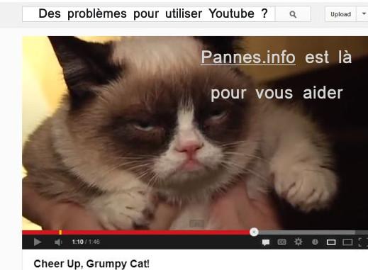 problèmes vidéos youtube