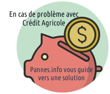 site crédit agricol en panne