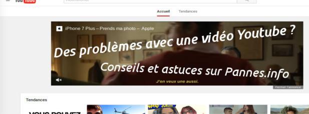 résolution problèmes vidéos youtube