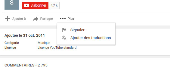Youtube signaler une vidéo